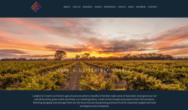 Langhorne Creek website